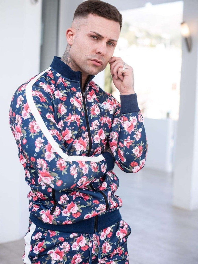 Size Up Tropical Floral Prints Zip Up 2
