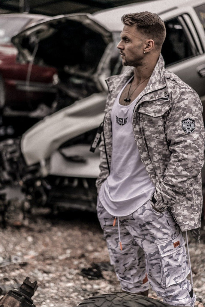Size Up Sand Camo Military Zip Up 2
