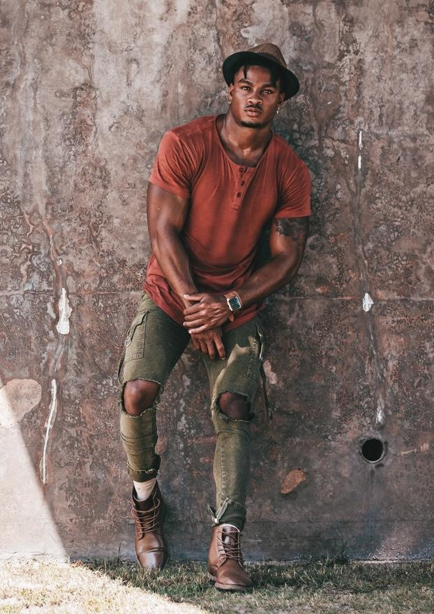 Size Up Tri-Stretch Sulphur Acid Wash Cargo Denim Pants