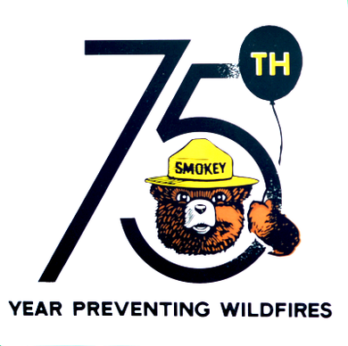 Acrylic Magnet: Smokey Bear 75th Birthday