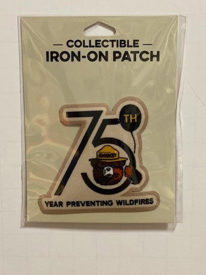 Smokey Bear 75th Anniversary iron-on patch