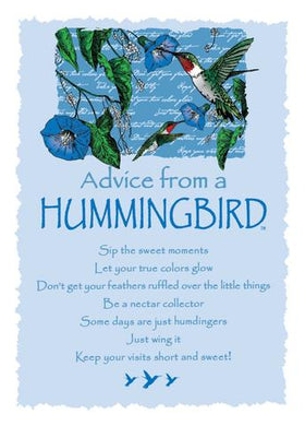 Greeting Card: Advice From A Hummingbird