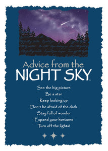 Greeting Card: Advice From Night Sky