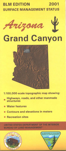 Map: Grand Canyon AZ - AZ121S