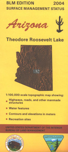 Map: Theodore Roosevelt Lake AZ - AZ150S