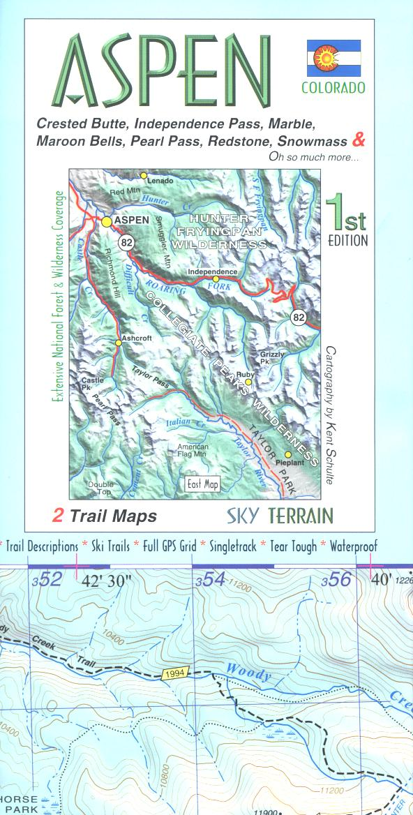 Map: Aspen & Crested Butte Trails CO