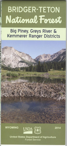 Map: Bridger Teton NF WY - Big Piney