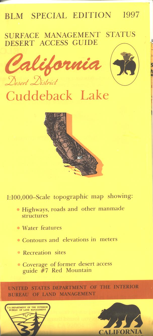 Map: Cuddeback Lake CA - CA095S