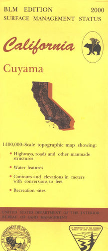 Map: Cuyama CA - CA105S