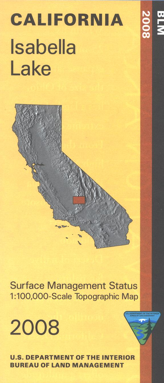 Map: Isabella Lake CA - CA200S