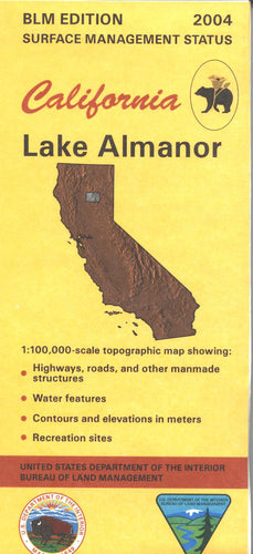 Map: Lake Almanor CA - CA215S