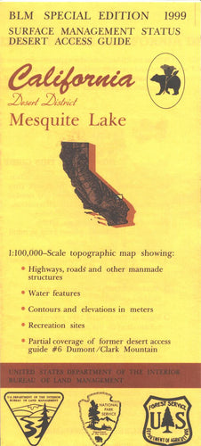 Map: Mesquite Lake CA - CA270S