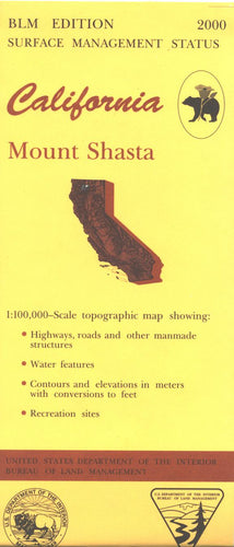 Map: Mount Shasta CA - CA280S