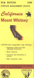 Map: Mount Whitney CA - CA285S