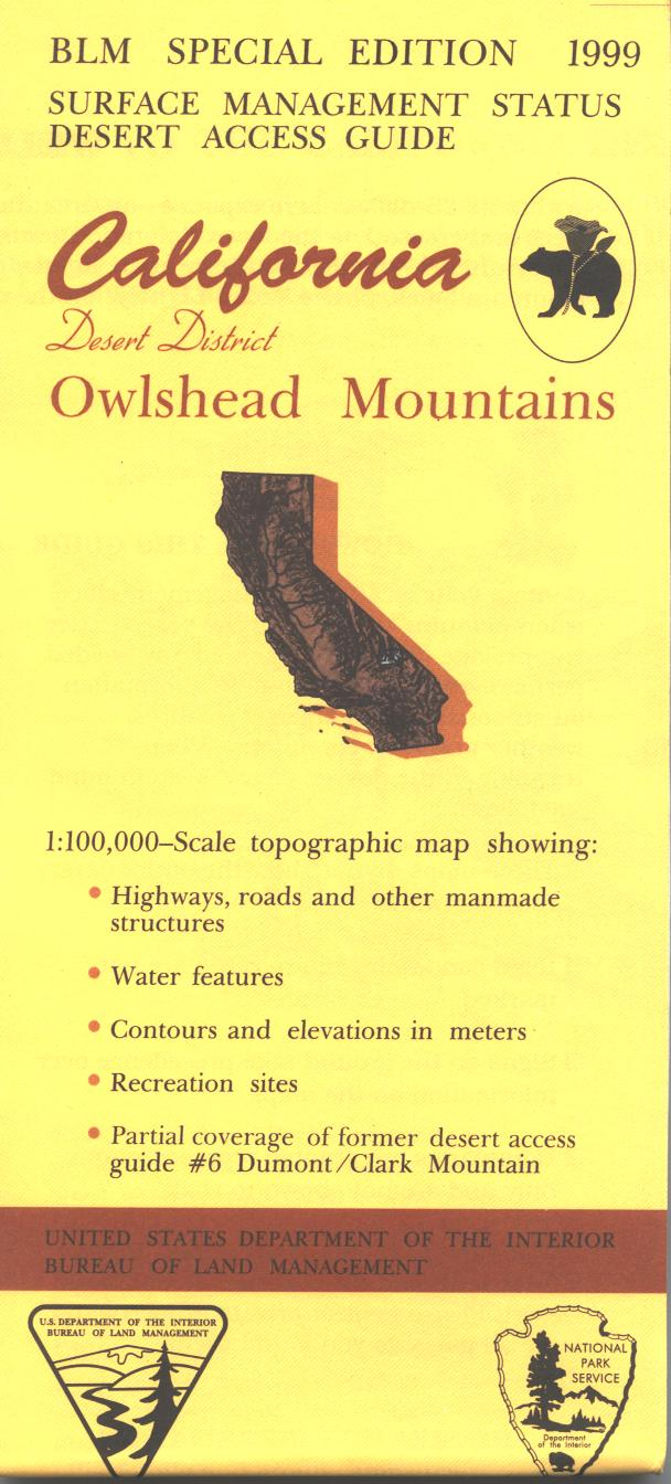 Map: Owlshead Mountains CA - CA320S