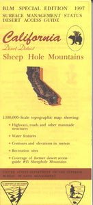 Map: Sheep Hole Mountains CA - CA485S