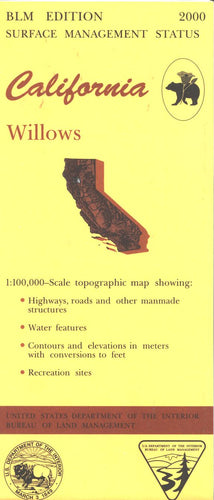 Map: Willows CA - CA555S