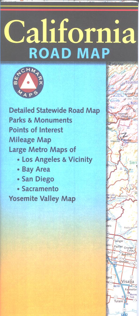 Map: California Road map