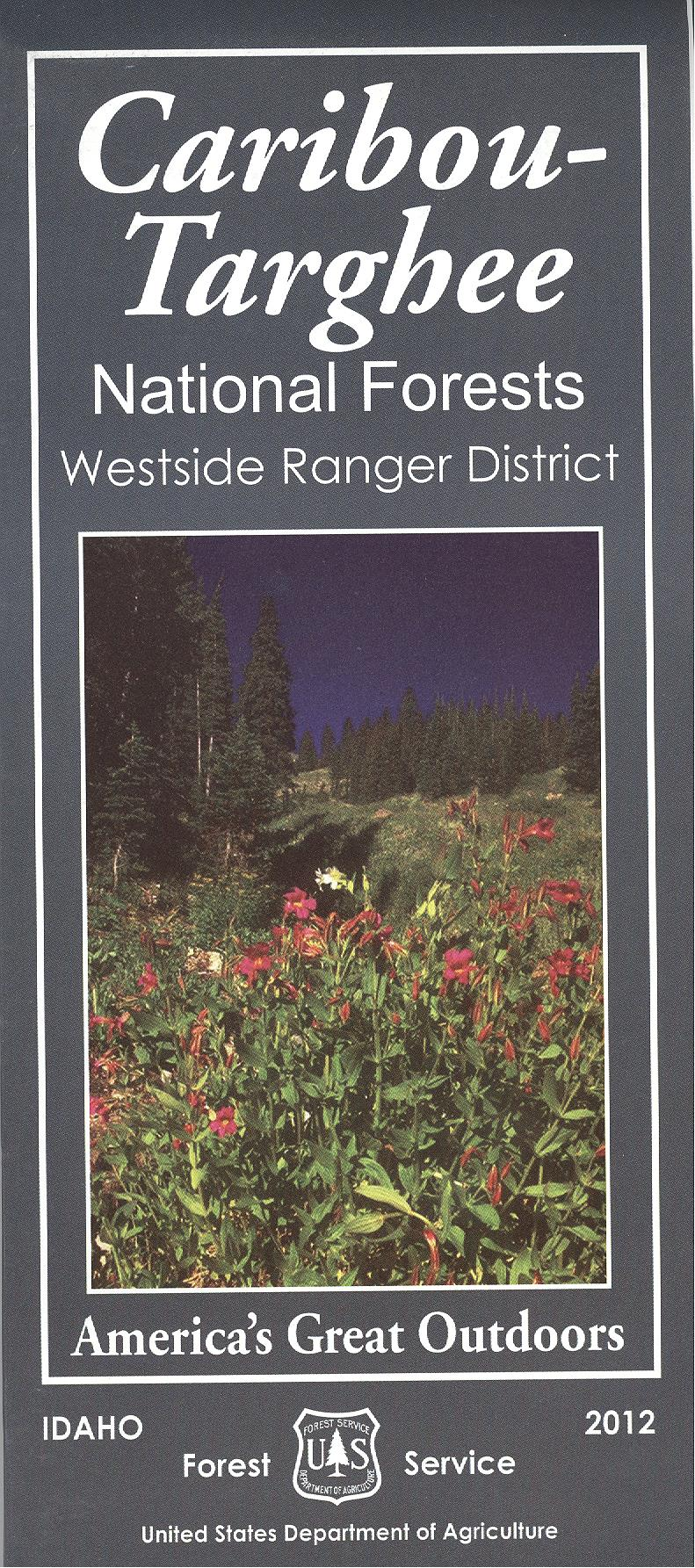 Map: Caribou-Targhee National Forest ID Westside