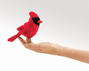 Finger Puppet: Mini Cardinal
