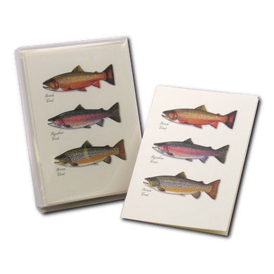 Boxed Notecards: Trout Trio