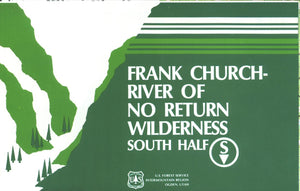 Map: Frank Church River No Return Wilderness Area Map ID South Half
