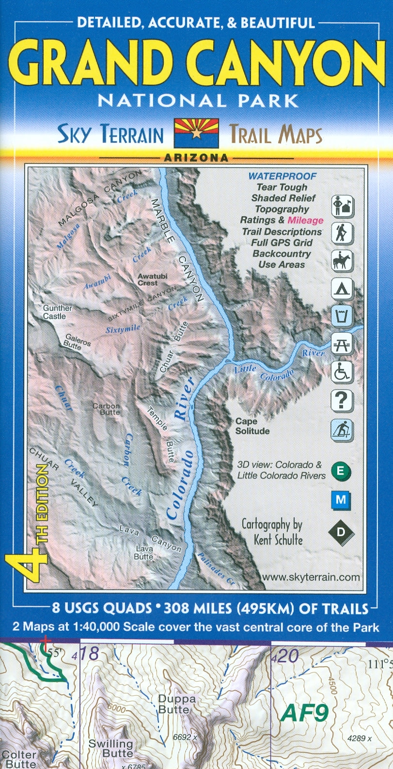 Map: Grand Canyon AZ National Park Trail