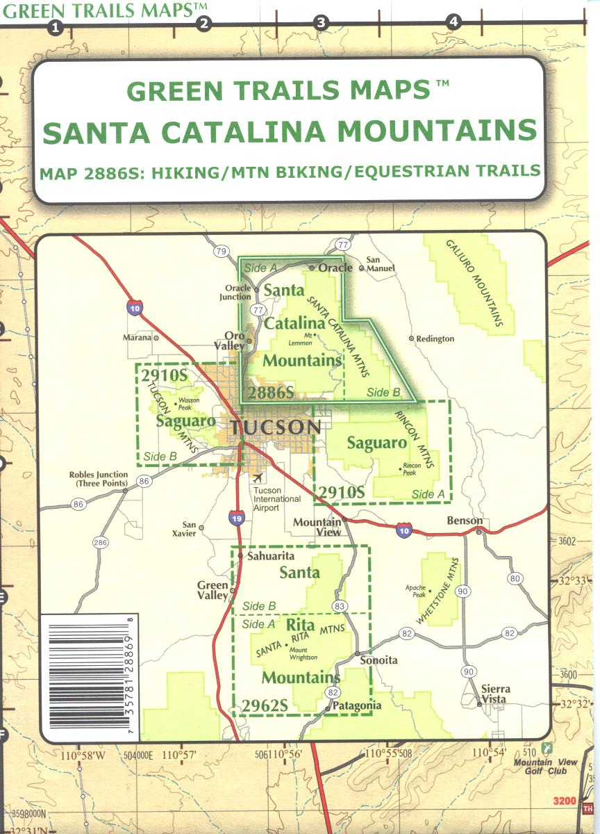 Map: Santa Catalina Mountains