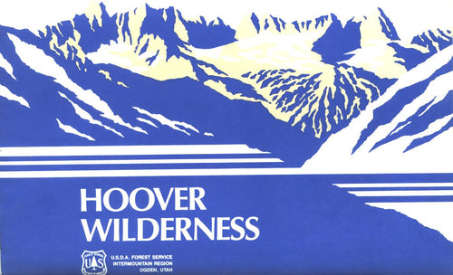 Map: Hoover Wilderness: Toiyabe & Inyo NF NV