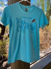 Load image into Gallery viewer, T-shirt: Sabino Hawk Sky Blue