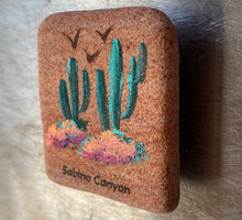 Load image into Gallery viewer, Stone Magnet: Saguaro Cactus