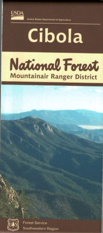 Map: Cibola National Forest NM Mountainair District