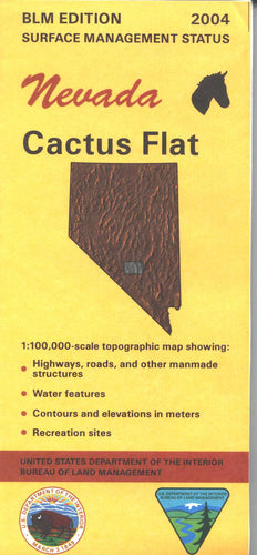 Map: Cactus Flat NV - NV107S