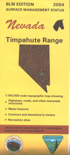 Map: Timpahute Range NV - NV160S