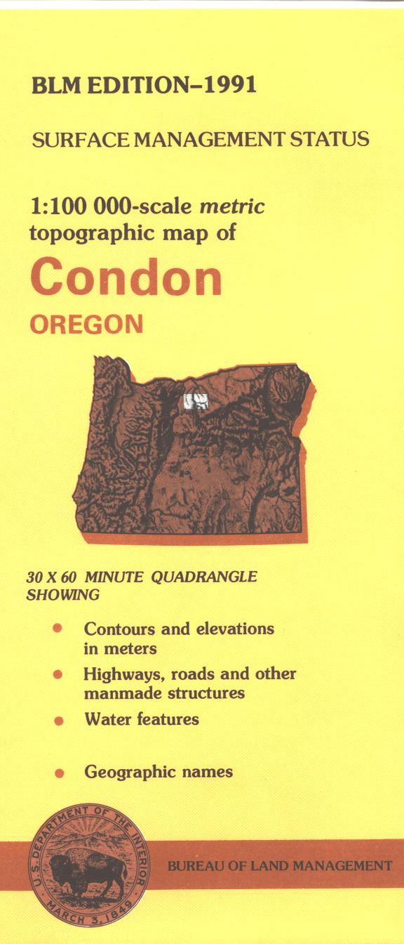 Map: Condon OR - OR012S