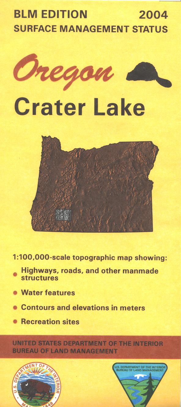 Map: Crater Lake OR - OR016S