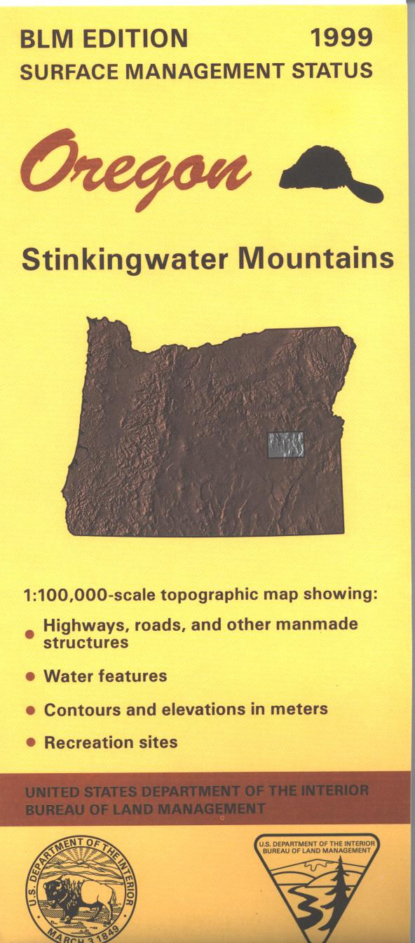Map: Stinkingwater Mountains OR - OR055S