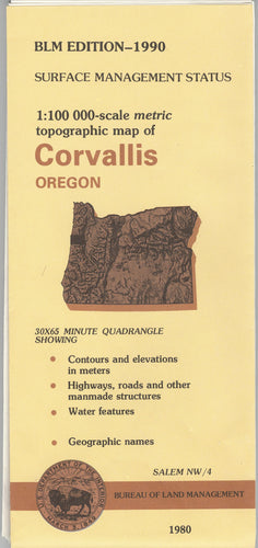 Map: Corvallis OR - OR014S