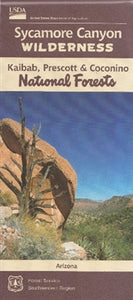 Map: Sycamore Canyon Wilderness AZ Map Waterproof