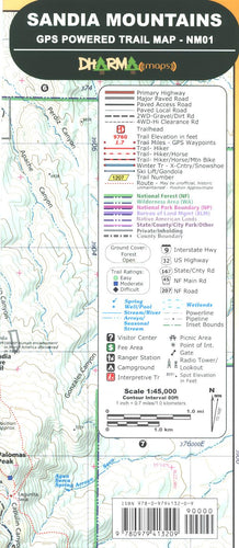 Map: Sandia Mountains GPS