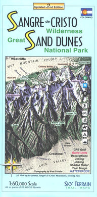 Map: Sangre de Cristo & Great Sand Dunes NP CO