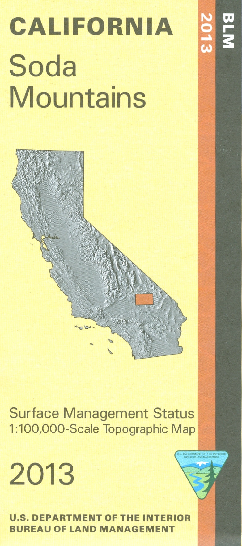 Map: Soda Mountains CA - CA495S