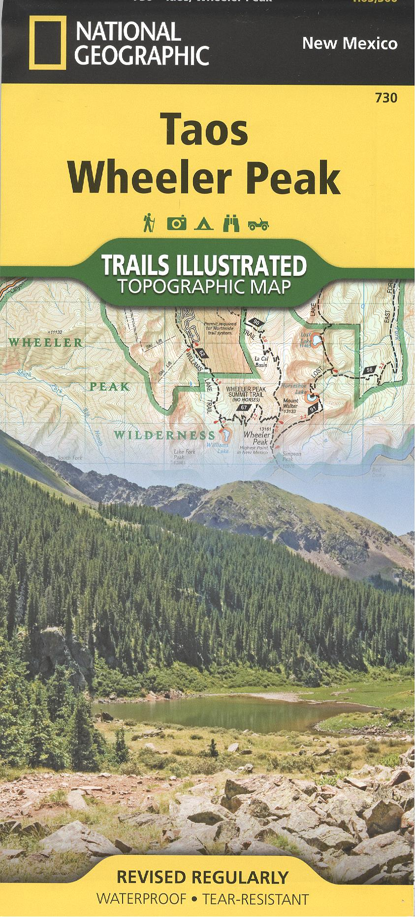 Map: Taos/Wheeler Peak