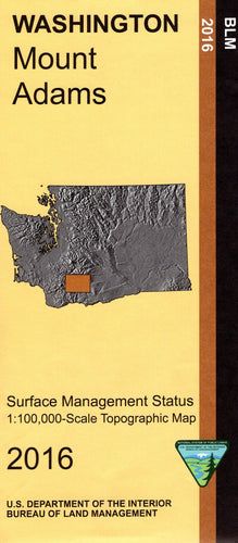 Map: Mount Adams WA - WA018S