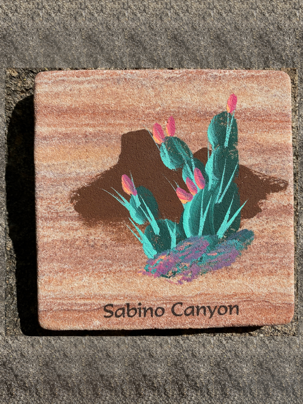 Stone Coaster: Prickly Pear Cactus