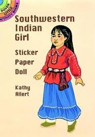 Southwestern Indian Girl Sticker Paper Doll