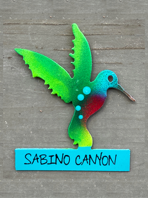 Metal Magnet: Hummingbird