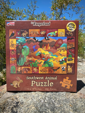 Puzzle: Southwest Animals 200 pieces