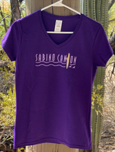 Load image into Gallery viewer, T-shirt: Sabino Canyon Purple V-Neck