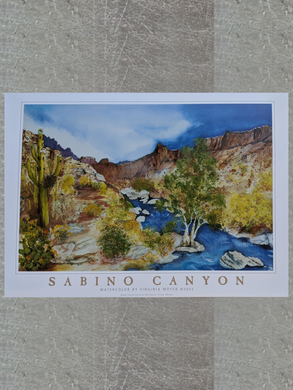 Poster: Sabino Canyon by Virginia Moyer